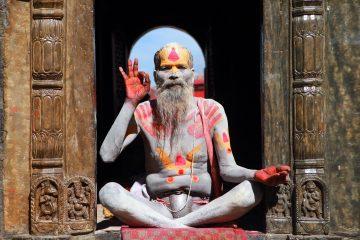 Holy man in Kathmandu